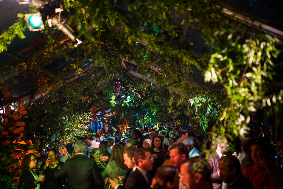 The unexpected rooftop venue was completely transformed from top to bottom