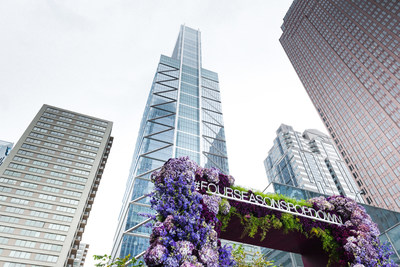 Interactive floral art installations created by celebrity florist Jeff Leatham popped down around the city