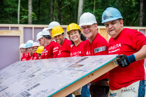Delta Air Lines employees are volunteering across the country this fall to build five homes.  Proceeds from a recycling program helped fund two homes in Atlanta in September.