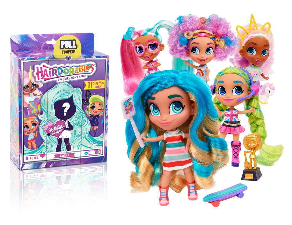 Hairdorables is a popular doll line from Just Play, created for girls aged 5-8. (CNW Group/DHX Media Ltd.)