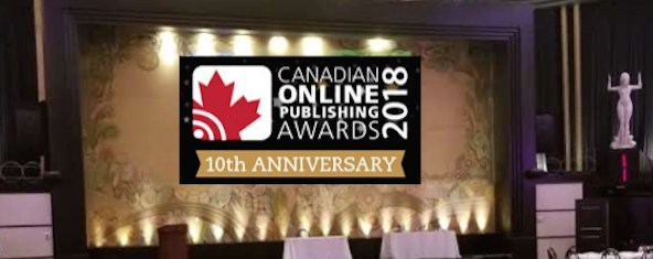 Canadian Online Publishing Awards Celebrate its 10th Anniversary in 2018 (CNW Group/Canadian Online Publishing Awards (COPA))