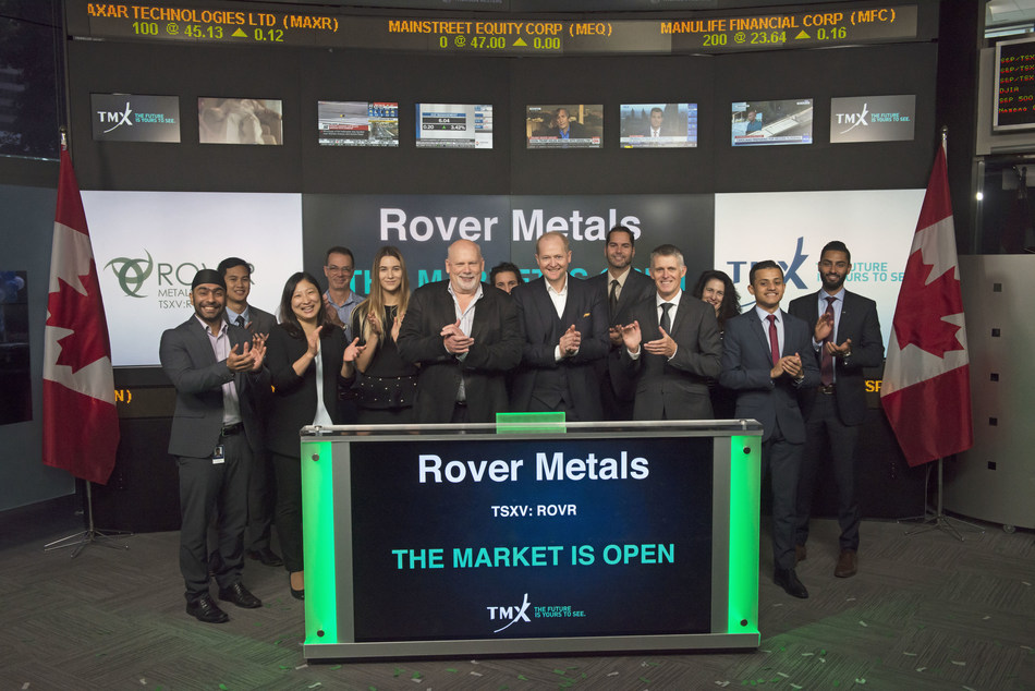 Rover Metals Corp. opens the market (CNW Group/TMX Group Limited)