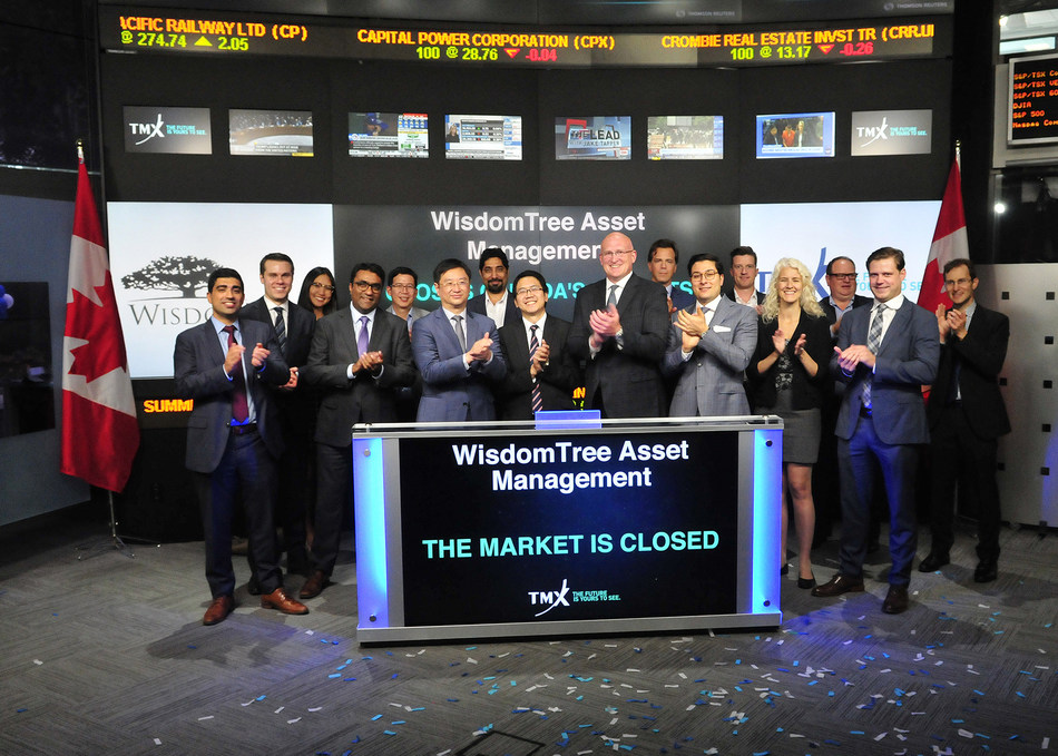 WisdomTree Asset Management closes the market (CNW Group/TMX Group Limited)