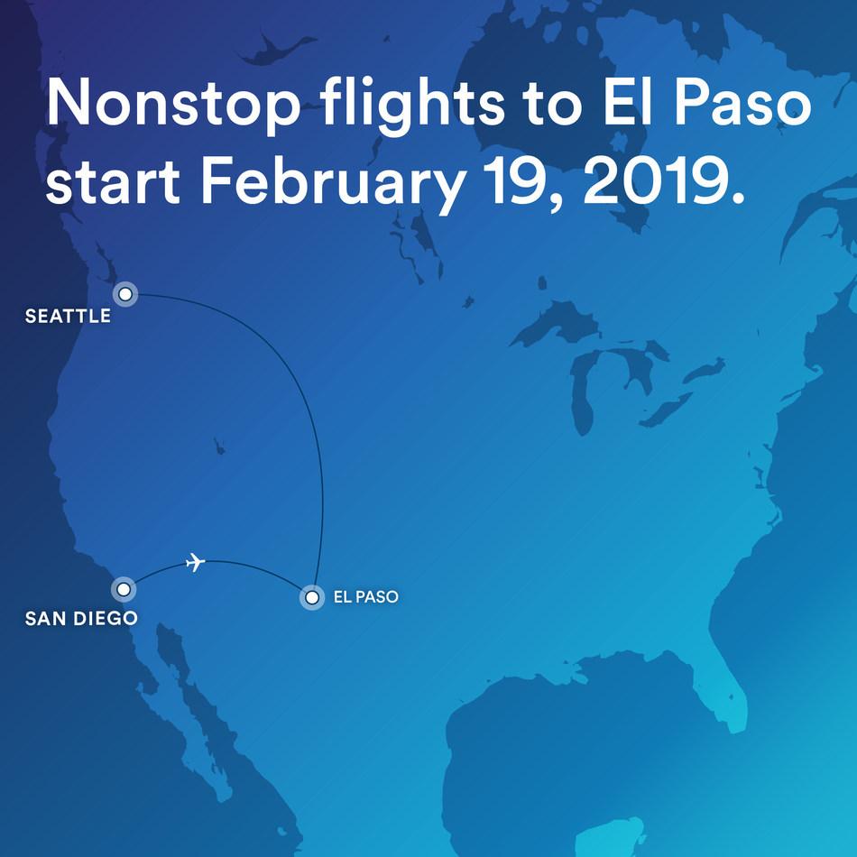 El Paso is a new destination for Alaska Airlines.