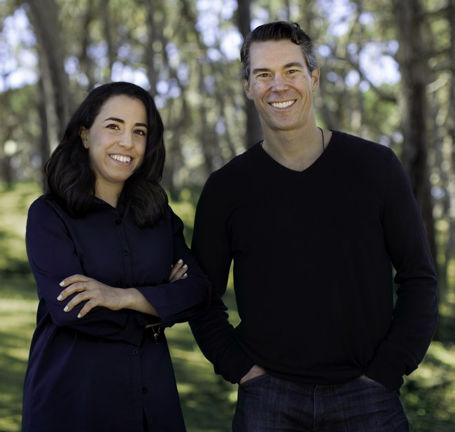 Dave Hersh, new CEO, and Sharon Savariego, Co-Founder