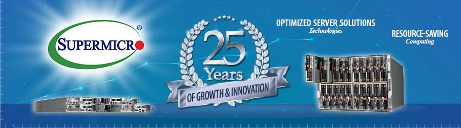 Principal fornecedora sediada nos EUA de sistemas de servidor e armazenamento celebra 25 anos de crescimento e inovação