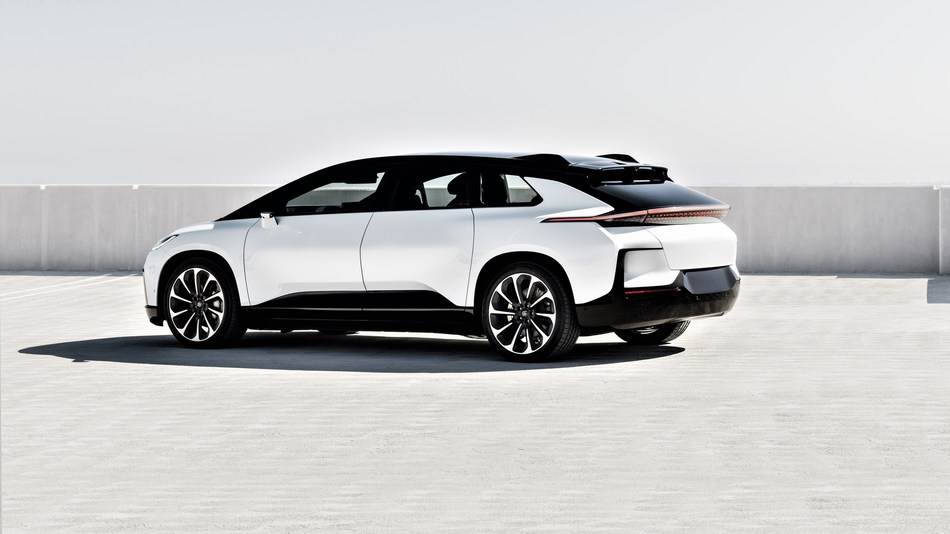Faraday Future FF 91 ultra-luxury connected EV.