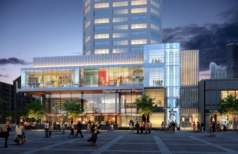 Artist rendering of new retail podium at Stephen Avenue Place (CNW Group/Slate Asset Management LP)
