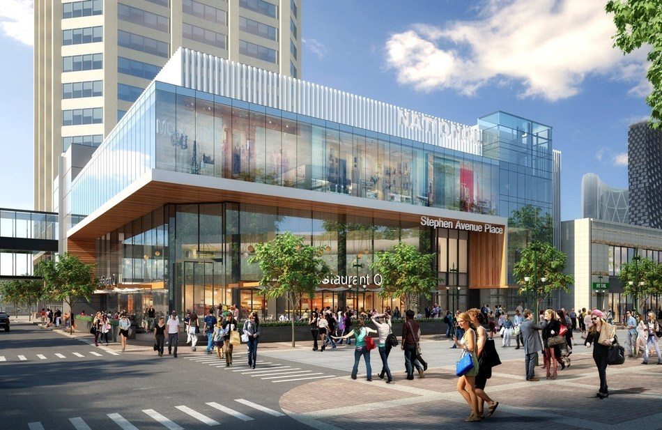 Artist rendering of the north east corner of Stephen Avenue Walk and 2nd Street (CNW Group/Slate Asset Management  LP)