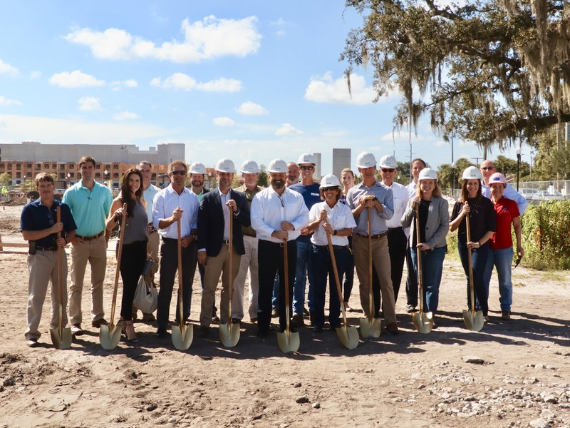 Watercrest Senior Living Group and Titan Development celebrate with construction and design partners at the groundbreaking of Watercrest Winter Park Assisted Living and Memory Care in Winter Park, Fla.