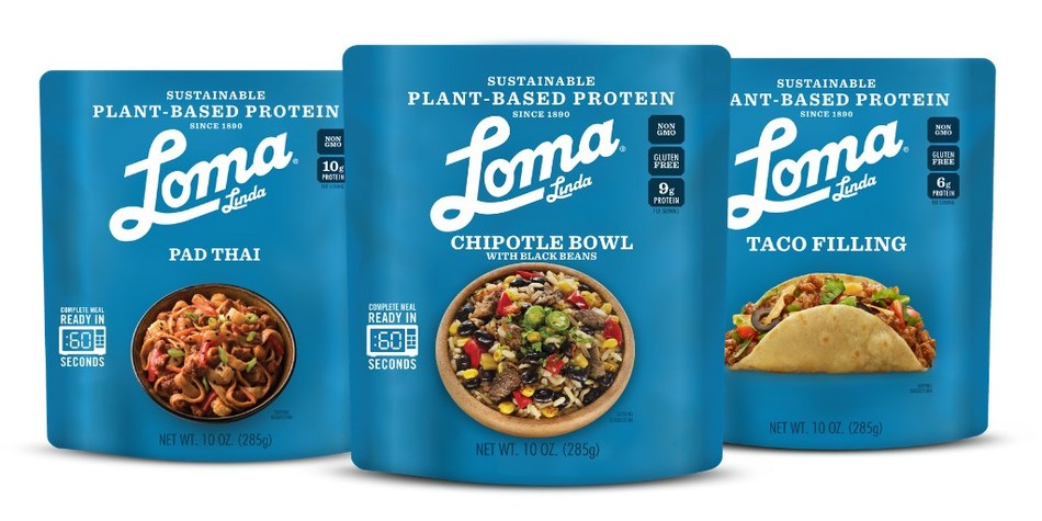 Loma Linda® Plant-Based Protein Meal Solutions, a delicious new line of shelf-stable, plant-based meals