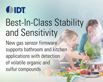 IDT Releases New Firmware for Bathroom and Kitchen Applications on its Indoor Air Quality Platform. Firmware Release Allows Customers to Easily Configure ZMOD4410 Integrated Gas Sensors for the Unique Requirements of Different Applications in the Home.