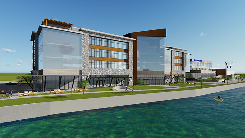 Legacy Center and conference center design to be built by JP Cullen, the construction firm responsible for building the original Janesville General Motors plant in 1919