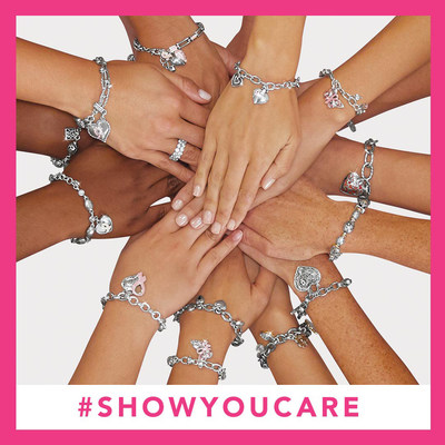 Join Hands with Brighton's 16th Annual Power of Pink movement! We have a deep commitment to giving back to the communities that surround our stores. For each 2018 Power of Pink Bracelet purchased, we will donate $10 to support breast cancer research and awareness. Join Hands & Show You Care #showyoucare #brightongivesback