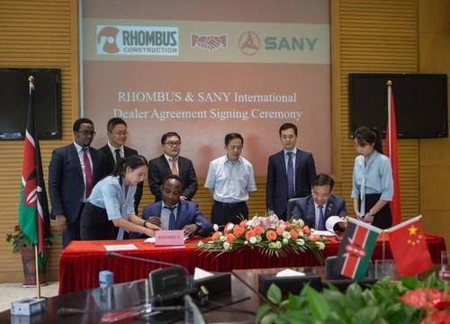The international dealer agreement signing ceremony
