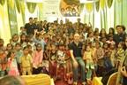 Team Blueair with Children from Badli Industrial Area under Blueair Champions (PRNewsfoto/Blueair)