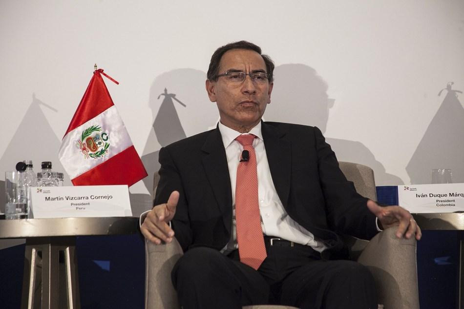 President of Peru, Martin Vizcarra at the Pacific Alliance Investment Summit in New York, 26th Sep. (PRNewsfoto/PromPeru)