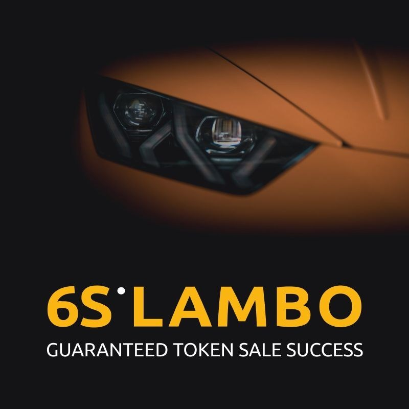Successful token sale in 6 steps -- 6SLambo offers turnkey marketing solution for ICO & STO founders