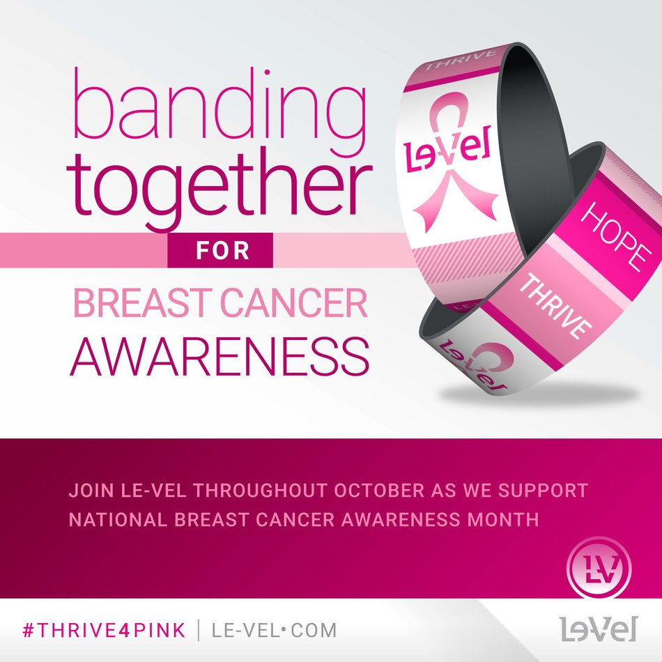 Le-Vel kicks off fourth year of breast cancer awareness campaign (PRNewsfoto/Le-Vel Brands)