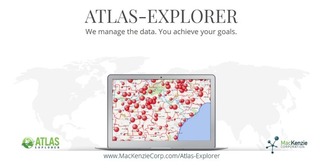 Compare sales, identify overlap, measure growth, evaluate density, and access reports. These are just a few of the features offered by our powerful Atlas-Explorer data visualization tool.