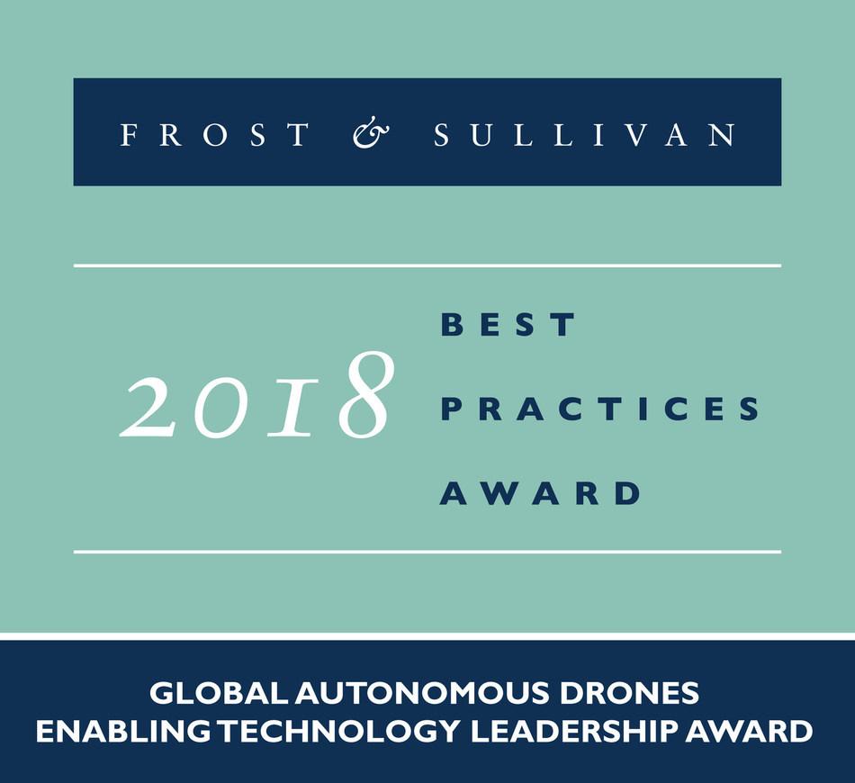 Percepto Robotics 2018 Global Autonomous Drones Enabling Technology Leadership Award (PRNewsfoto/Frost & Sullivan)