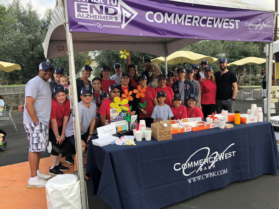CommerceWest Bank team, family and friends walk to end Alzheimer's.