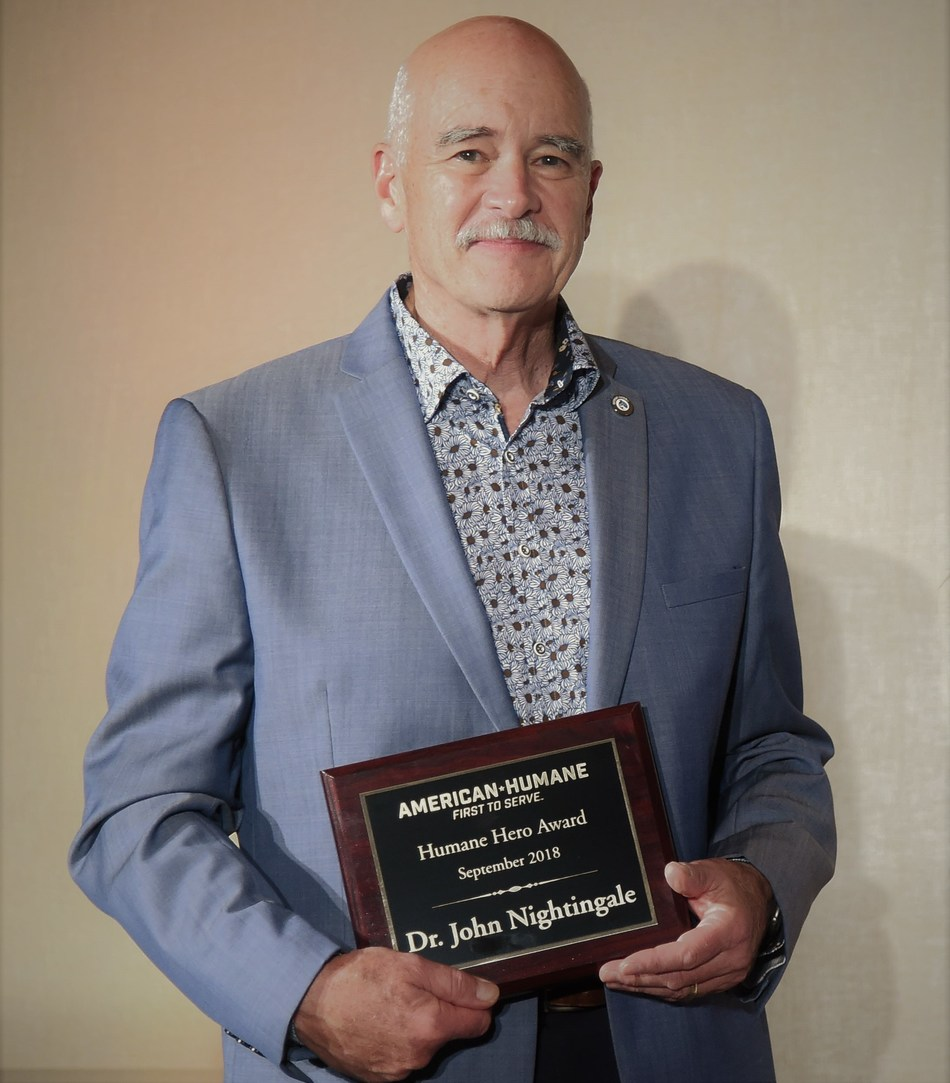 Dr. John Nightingale Receives Humane Hero Award from American Humane