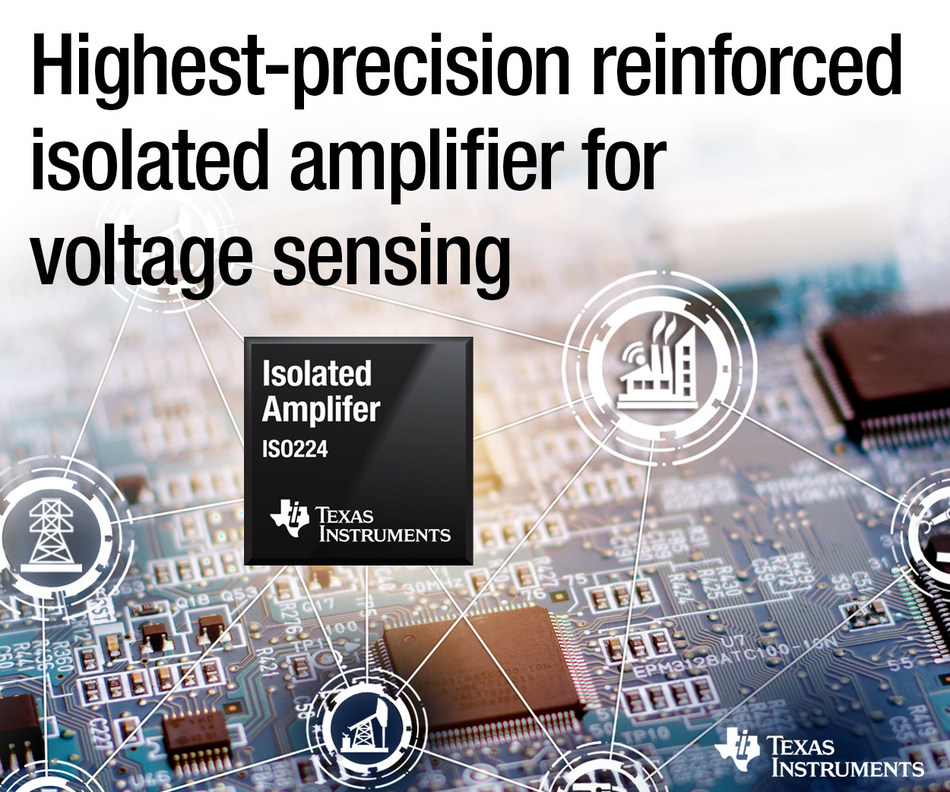 TI's next-generation isolated amplifier delivers higher working voltages, longer lifetimes, more stable and accurate measurements over an extended temperature range, and reduced board space