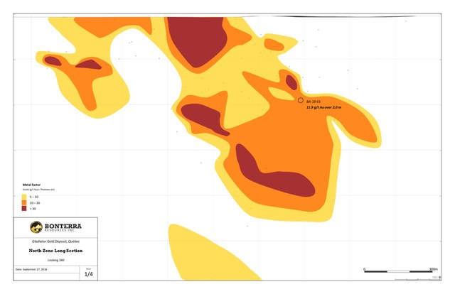 Bonterra Resources BTR:TSX-V / Oct.1.2018 / News Release - North Zone (CNW Group/Bonterra Resources Inc.)