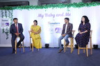 L-R; Mr. B. Shiv Kumar Singh, Marketing Manager, Himalaya BabyCare and Himalaya Mom, Dr. Archana, General Manager, R&D, RJ Sriram Sullia, 104 FM, Sriram's Wife Punitha (PRNewsfoto/The Himalaya Drug Company)