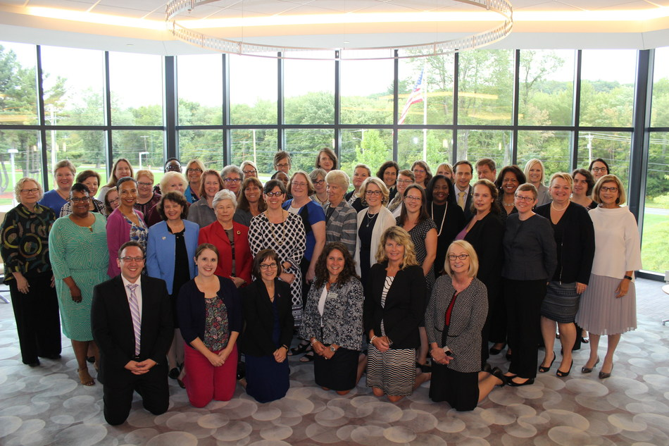 """""""Expanding the Reach of Women's Colleges"""" meeting participants at Bay Path University"""