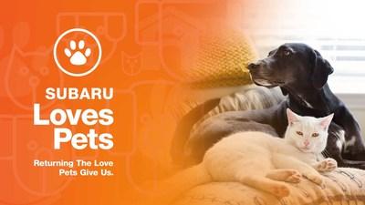 "Subaru of America Helps Animals in Need During October ""Subaru Loves Pets"" Month"