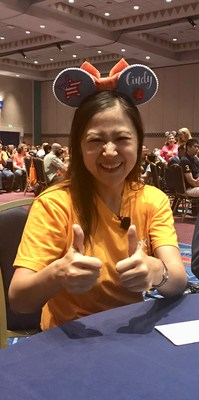 VIPKID Founder and CEO, Cindy Mi, celebrates with over 450 VIPKID teachers supporting the new