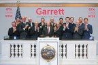 Garrett President and CEO Olivier Rabiller opens trading at the New York Stock Exchange by ringing the opening bell with the company's senior leadership team.