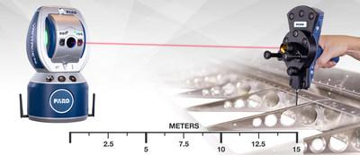 Os Laser Trackers como o VantageS6 são amplamente utilizados na indústria aeroespacial. O 6Probe facilita a realização de medições em áreas ocultas que estão fora da linha de visão do tracker.