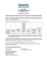 Bonavista Energy Corporation Announces Increase to Exchangeable Share Ratio (CNW Group/Bonavista Energy Corporation)