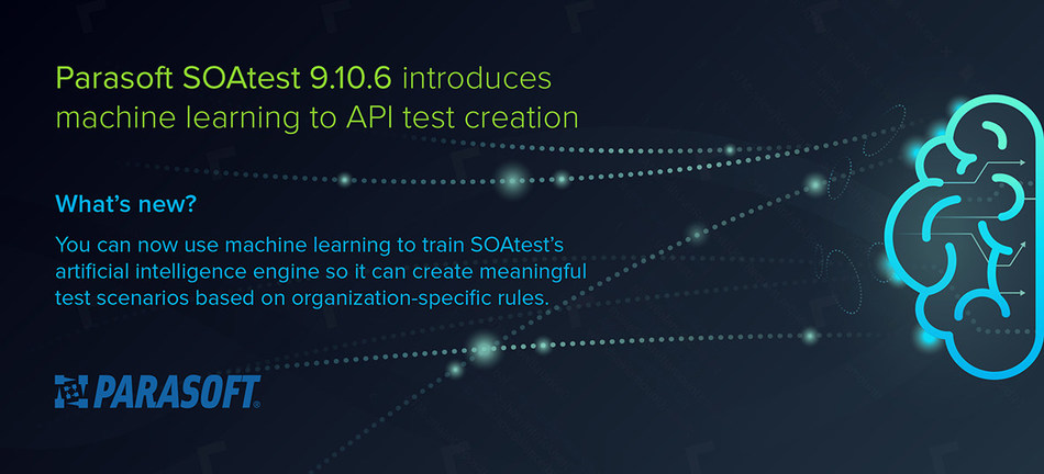 New Parasoft SOAtest introduces machine learning to API test creation. www.parasoft.com/soatest