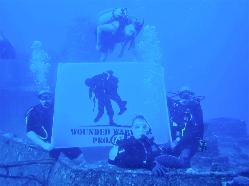 Warriors connect during Wounded Warrior Project scuba dive event