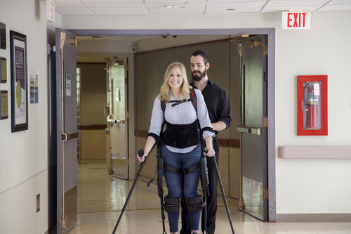 Long-term care hospitals provide life-transforming, highly technological care to the nation's sickest, most devastatingly injured patients. Pictured here is Jillian Harpin, paralyzed from a spinal cord injury, walking in a bionic exoskeleton at Gaylord Hospital.