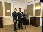 National Business Book Award winner Chris Turner (centre) at the Award Ceremony today in Toronto with co-sponsors Gino Scapillati of Bennett Jones and Catherine Roche of BMO Financial Group. Photo credit: Michael Hope, https://protect-us.mimecast.com/s/6oSCC4xLBOSl7NpXtOKQXe. (CNW Group/National Business Book Award)