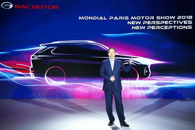 Yu Jun, presidente da GAC Motor, em discurso na coletiva de imprensa (PRNewsfoto/GAC Motor)