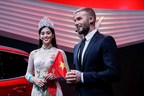 David Beckham joined new Vietnamese car brand, VinFast, at the Paris Motor Show for the official unveiling of its first two cars. (PRNewsfoto/VinFast)