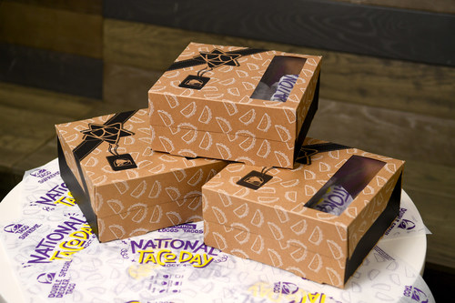 """Taco Bell is observing National Taco Day with the magical gift of tacos and saying """"seasoned beefings"""" with the $5 National Taco Day Gift Set, available in restaurants nationwide exclusively on October 4."""