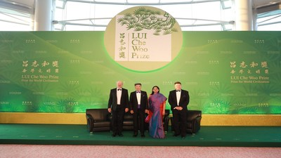(From left) Mr. Hans-Josef Fell, Dr. Lui Che Woo, Dr. Rukmini Banerji, and Prof. Petteri Taalas at the media session before the Ceremony