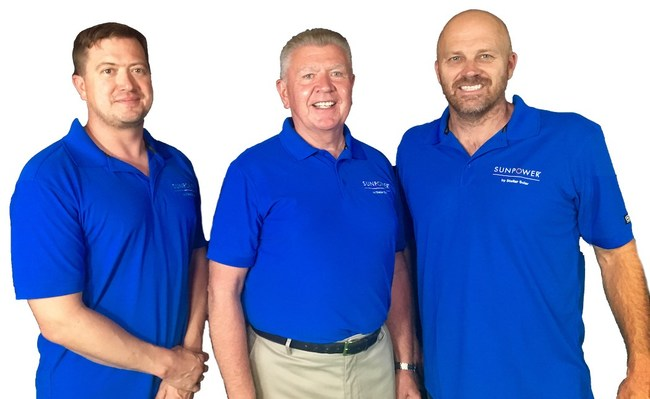 SunPower by Stellar Solar founding partners from left Brian Grems, Michael Powers and Kent Harle