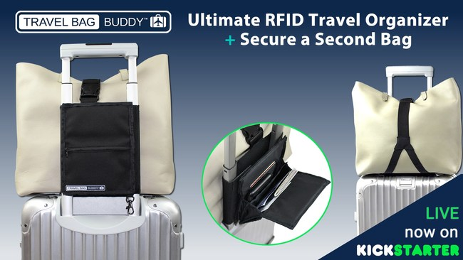 Travel Bag Buddy - RFID Protected Travel Organizer and Secondary Bag Strap