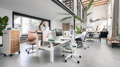 Sedus presents new office environments at Orgatec in Cologne. Photo: Sebastian Bullinger. (PRNewsfoto/Sedus Stoll AG)