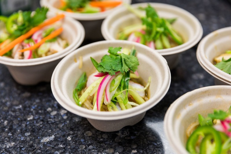 Sodexo's made to order Noodle/Zoodles Bowls featuring Pho and Savory Mushroom Broths, one of over 200 new Plant-Based recipes available across hundreds of university, healthcare and corporate services accounts nationwide.