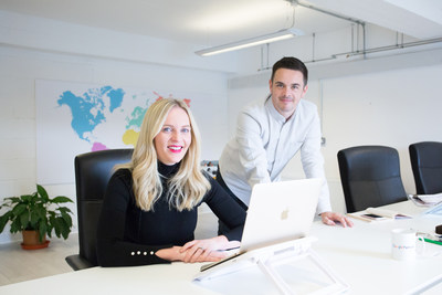 Tag Digital, pictured - husband-and-wife team Laura and Craig Davidson, who co-founded the business in 2011, plan to open a US office in early 2019 to facilitate recent growth in North American clients. (PRNewsfoto/Tag Digital)