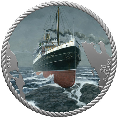 New Royal Canadian Mint collector coin recounts tragic loss of canadian-bound SS Princess Sophia 100 years ago